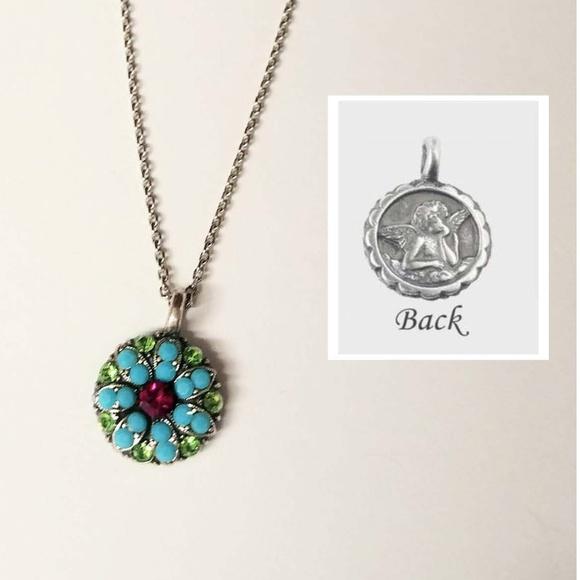 e24744acbbcc7 Mariana Guardian Angel Crystal Pendant Necklace Boutique